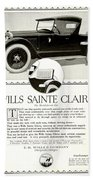 1921 - Wills Sainte Claire Automobile Roadster Advertisement Beach Towel