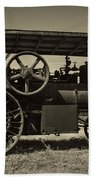 1921 Aultman Taylor Tractor Beach Towel by Debra and Dave Vanderlaan