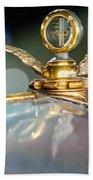 1921 Bentley Motometer Hood Ornament -0471c Beach Towel