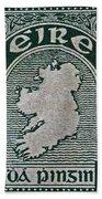 1922 Ireland Eire Stamp Beach Towel