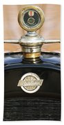 1922 Studebaker Touring Hood Ornament Beach Towel