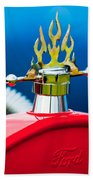 1923 Ford T-bucket Aftermarket Hood Ornament Beach Towel