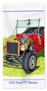 T Bucket Ford 1923 Beach Towel