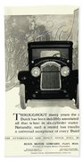1924 - Buick Six Advertisement Beach Towel