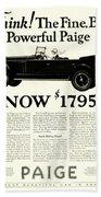 1924 - Paige Automobile Advertisement Beach Towel