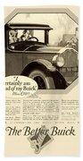 1925 - Buick Automobile Advertisement Beach Towel