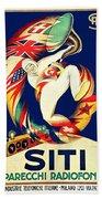 1925 - Siti Radio Receiver Advertisement Poster - Color Beach Towel