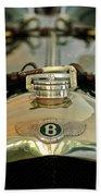 1925 Bentley 3-liter 100mph Supersports Brooklands Two-seater Radiator Cap Beach Towel by Jill Reger