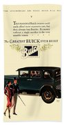 1927 - Buick Automobile - Color Beach Towel