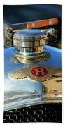 1927 Bentley Hood Ornament Beach Towel
