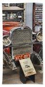 1928 Dodge Roadster Beach Towel