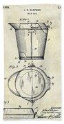 1928 Milk Pail Patent Drawing Beach Towel