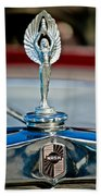 1928 Nash Coupe Hood Ornament 2 Beach Towel