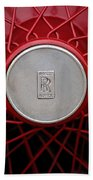 1928 Rolls-royce Phantom I Sedenca De Ville Wheel Emblem Beach Towel