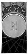 1928 Rolls-royce Spoke Wheel Beach Towel