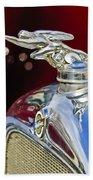 1928 Studebaker Hood Ornament 2 Beach Towel by Jill Reger