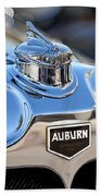 1929 Auburn 8-90 Speedster Hood Ornament Beach Towel