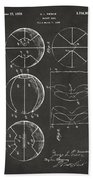 1929 Basketball Patent Artwork - Gray Beach Towel by Nikki Marie Smith