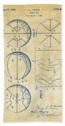 1929 Basketball Patent Artwork - Vintage Beach Towel