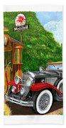 1929 Cadillac Dual Cowl Phaeton And Pegasus Beach Towel
