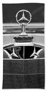 1929 Mercedes-benz S Erdmann - Rossi Cabiolet Hood Ornament Beach Towel
