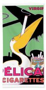 1930 - Pelican Cigarettes French Advertisement Poster - Color Beach Towel