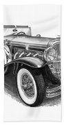 1930 Duesenberg Model J Beach Towel