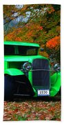 1930 Ford Sedan Delivery Truck  Beach Towel