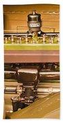 1930 Packard Speedster Runabout Engine -0539c Beach Towel