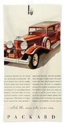 1931 - Packard - Advertisement - Color Beach Towel