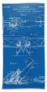 1931 Aircraft Emergency Floatation Patent Blueprint Beach Towel by Nikki Marie Smith