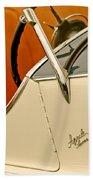 1931 Alfa Romeo 6c 1750 Gran Sport Aprile Spider Corsa Steering Wheel Beach Towel