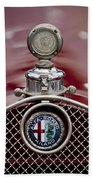 1931 Alfa-romeo Hood Ornament Beach Towel