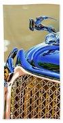 1931 Chrysler Cg Imperial Dual Cowl Phaeton Hood Ornament - Grille Beach Towel