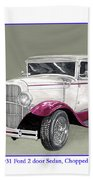 1931 Ford 2 Door Sedan Street-rod Beach Towel
