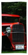 1931 Ford Panel Delivery Truck  Beach Towel