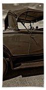 1931 Model T Ford Monochrome Beach Towel by Steve Harrington