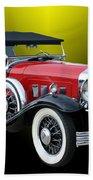 1931 Willys Knight Plaid Side Beach Towel