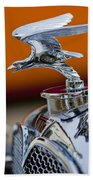 1932 Alvis Hood Ornament 2 Beach Towel