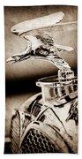 1932 Alvis Hood Ornament - Emblem Beach Towel