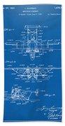 1932 Amphibian Aircraft Patent Blueprint Beach Towel