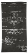 1932 Amphibian Aircraft Patent Gray Beach Towel