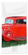 1932 Cadillac Rumbleseat Coupe Beach Towel