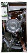 1932 Ford Roadster Head Lamp View Beach Towel