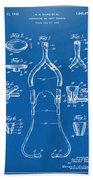 1932 Medical Stethoscope Patent Artwork - Blueprint Beach Towel