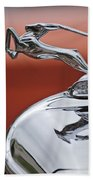 1933 Chrysler Cl Imperial Hood Ornament Beach Towel