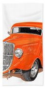 1933 Ford Three Window Coupe Beach Towel