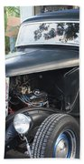 1933 Ford Two Door Sedan Front And Side View Beach Towel