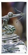 1933 Pierce-arrow 1236 2-door Convertible Coupe Hood Ornament Beach Towel by Jill Reger