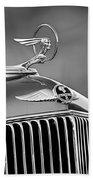 1933 Pontiac Hood Ornament - Emblem -0385bw Beach Towel